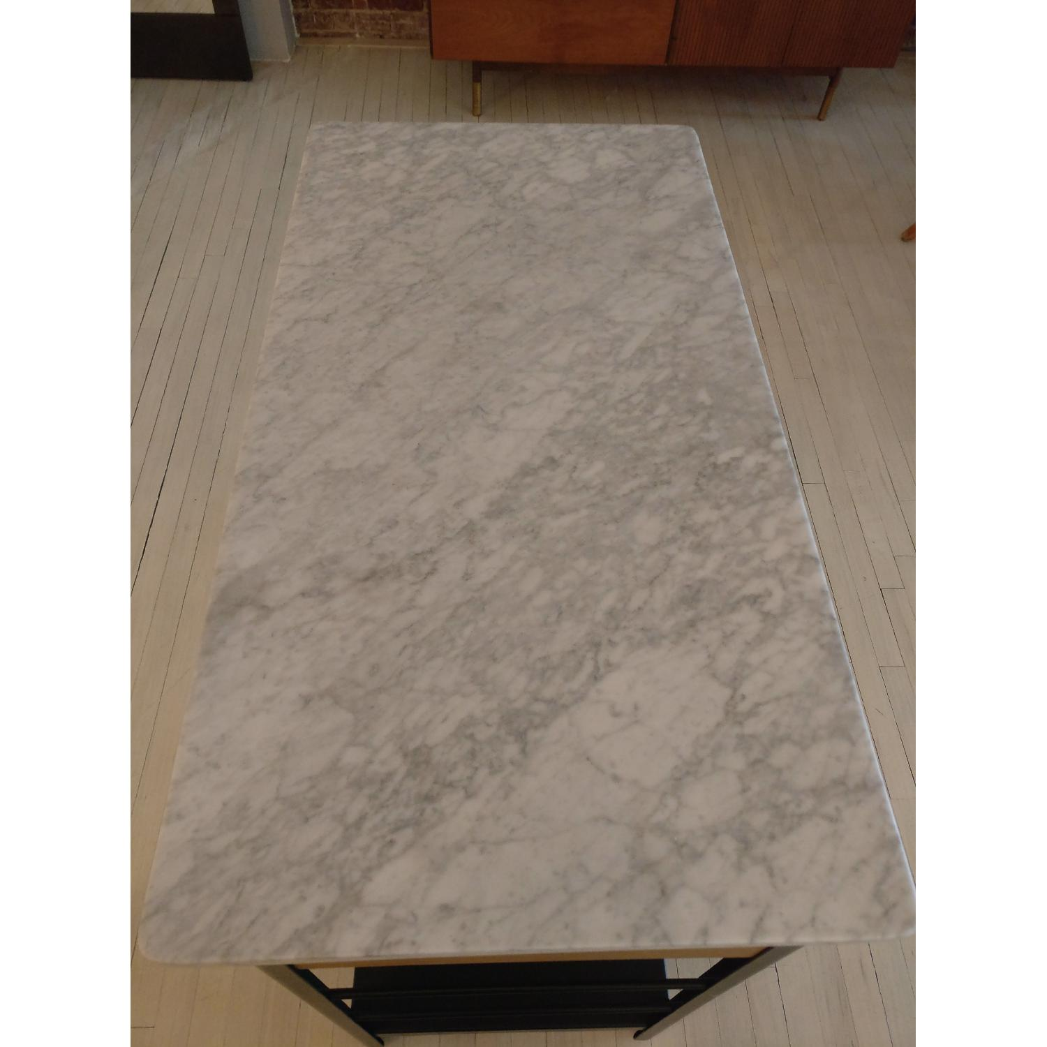 West Elm Marble Top Kitchen Island - image-5