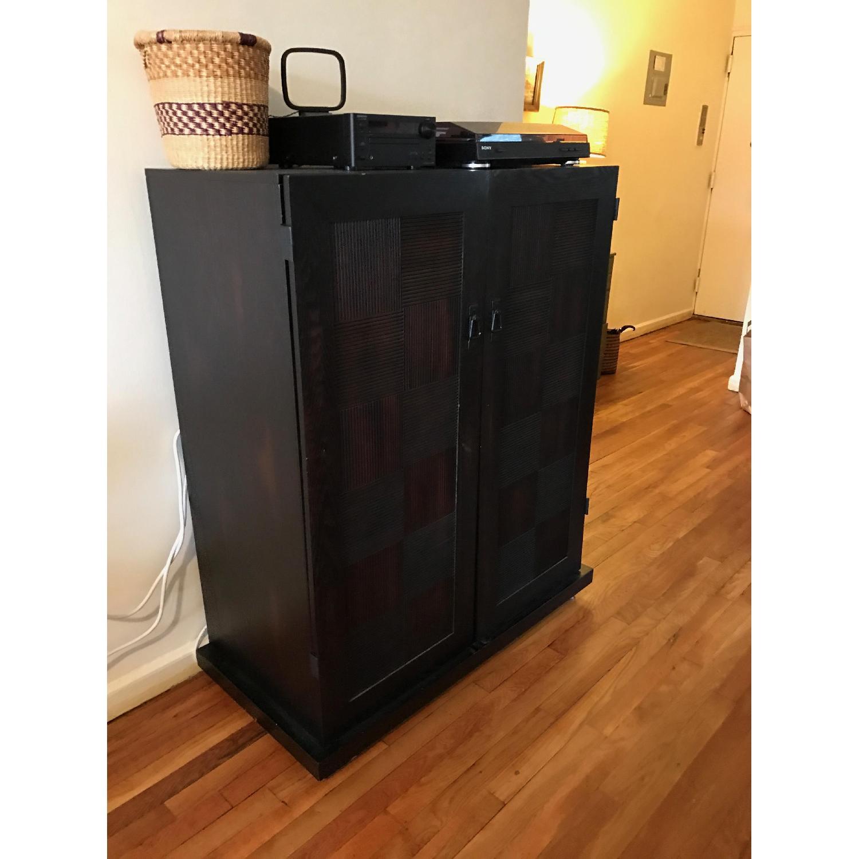 Espresso Wood Media Cabinet - image-1