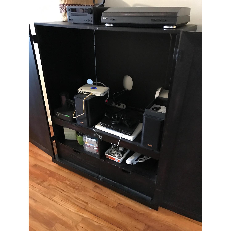 Espresso Wood Media Cabinet - image-2