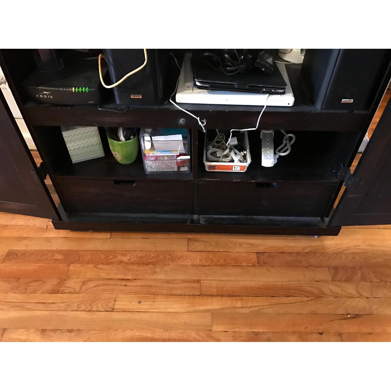 Espresso Wood Media Cabinet - image-3