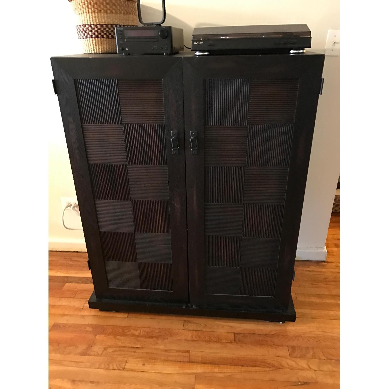 Espresso Wood Media Cabinet - image-4