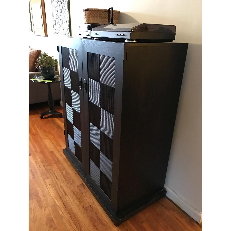 Espresso Wood Media Cabinet - image-5
