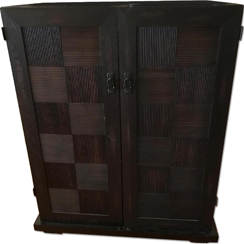 Espresso Wood Media Cabinet - image-0