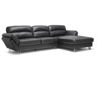 Baxton Studio Black Leather Sectional Sofa