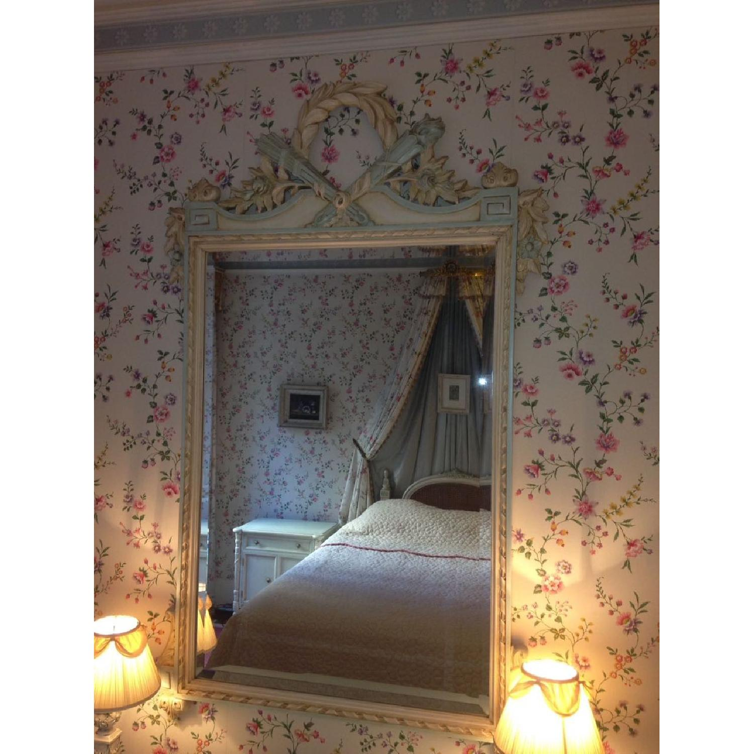 Julia Gray French Mirror w/ Blue Accents - image-4