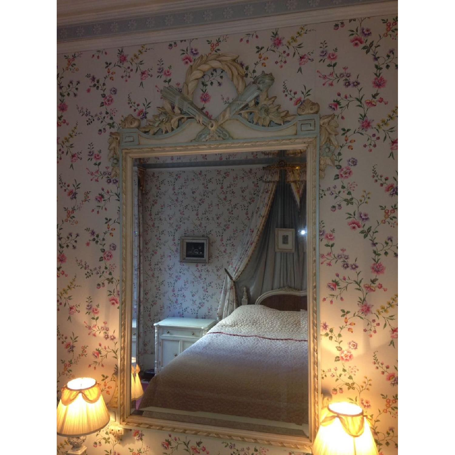 Julia Gray French Mirror w/ Blue Accents - image-6