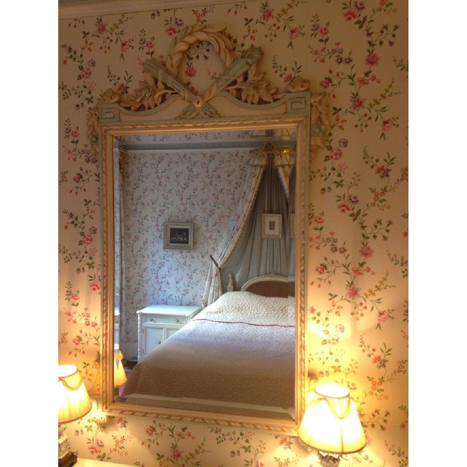 Julia Gray French Mirror w/ Blue Accents - image-7