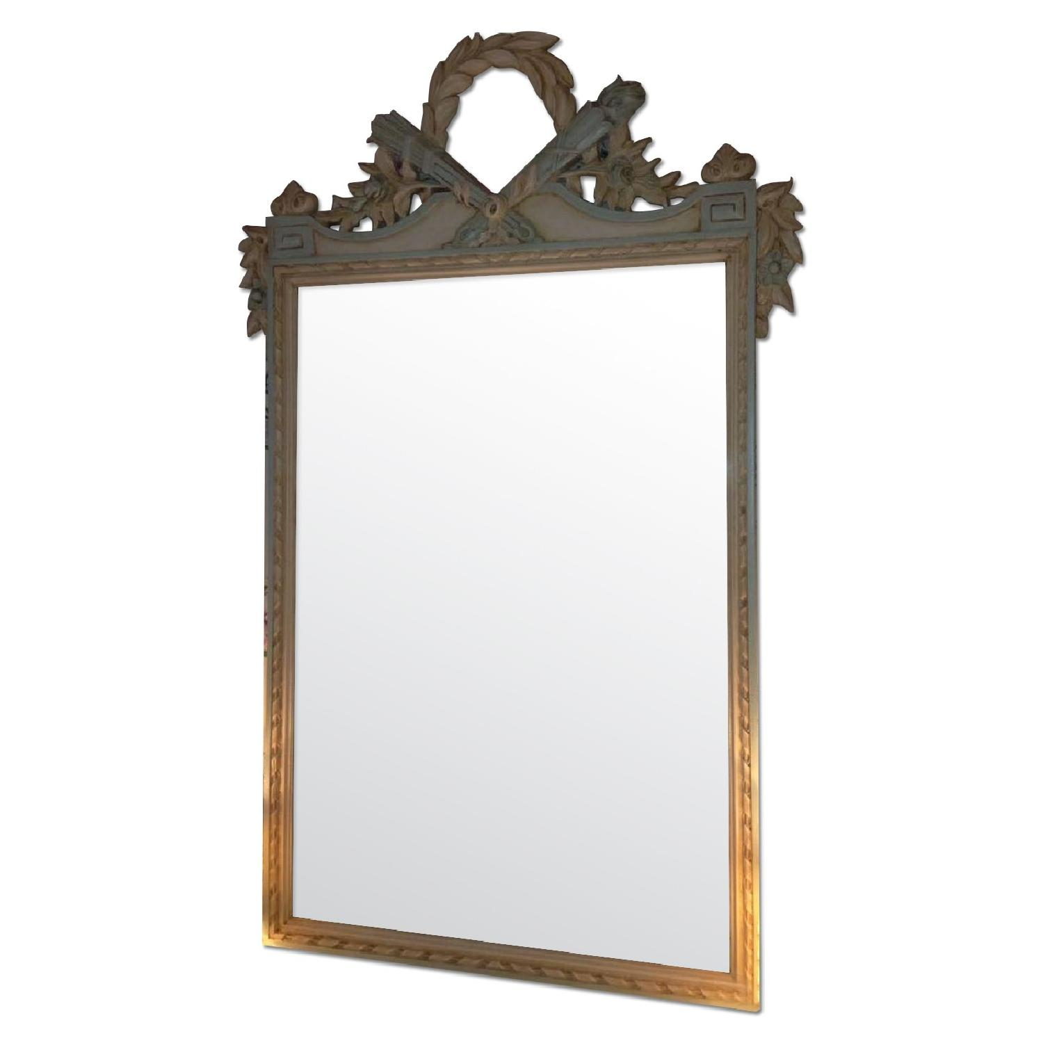 Julia Gray French Mirror w/ Blue Accents - image-0