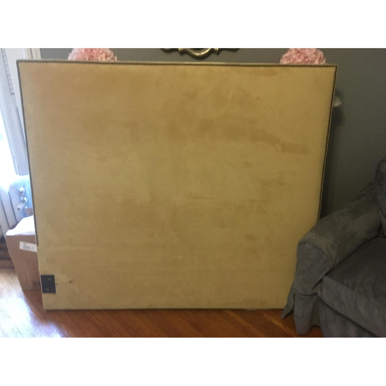 West Elm Queen Size Nailhead Upholstered Headboard - image-1
