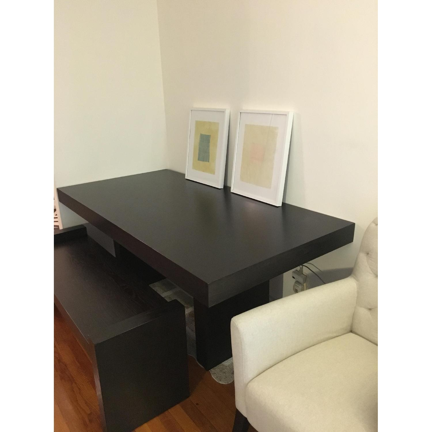 West Elm Modern Dining Table w/ 1 Bench - image-2