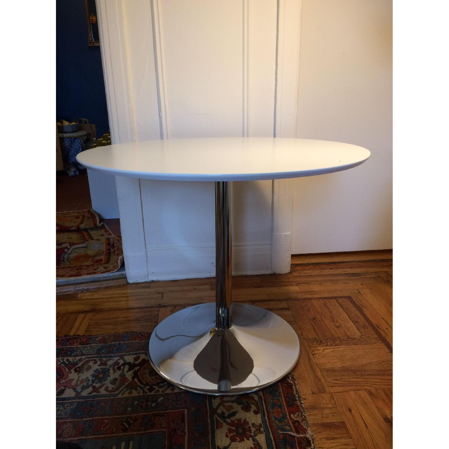 Round White Dining Table - image-2