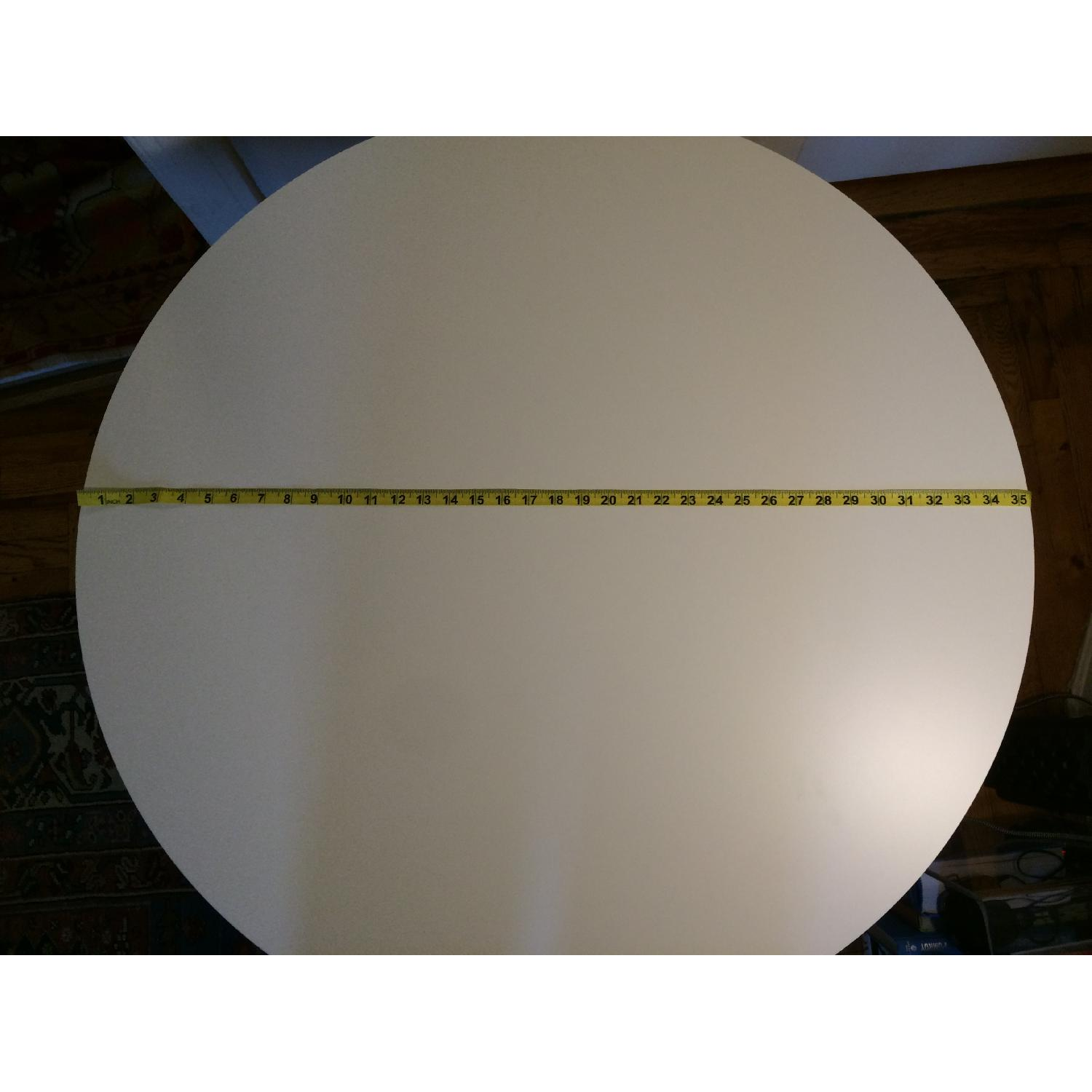 Round White Dining Table - image-5