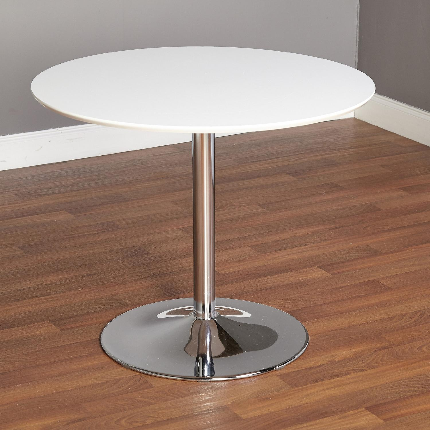 Round White Dining Table - image-7