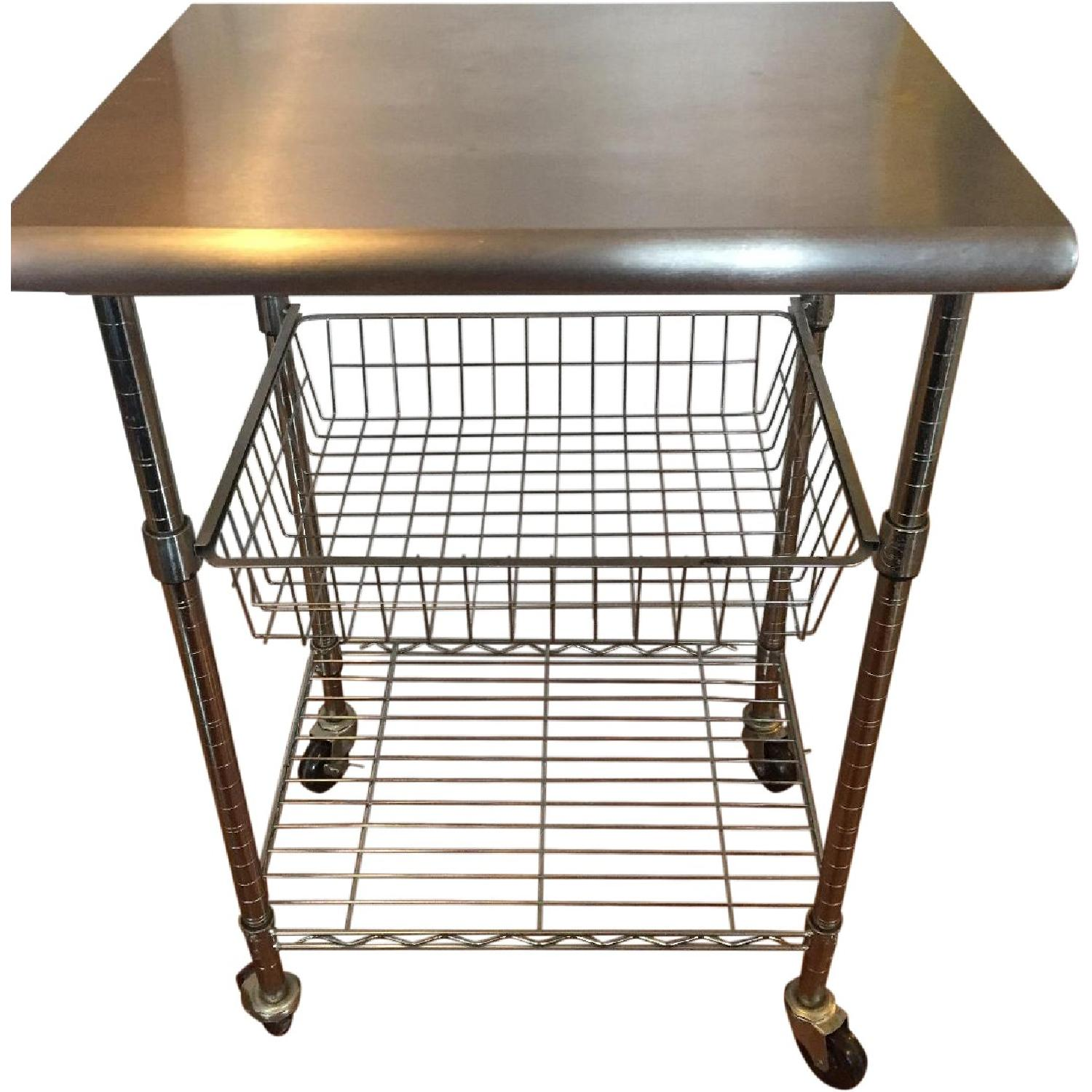 Stainless Steel Bakers Cart - image-0
