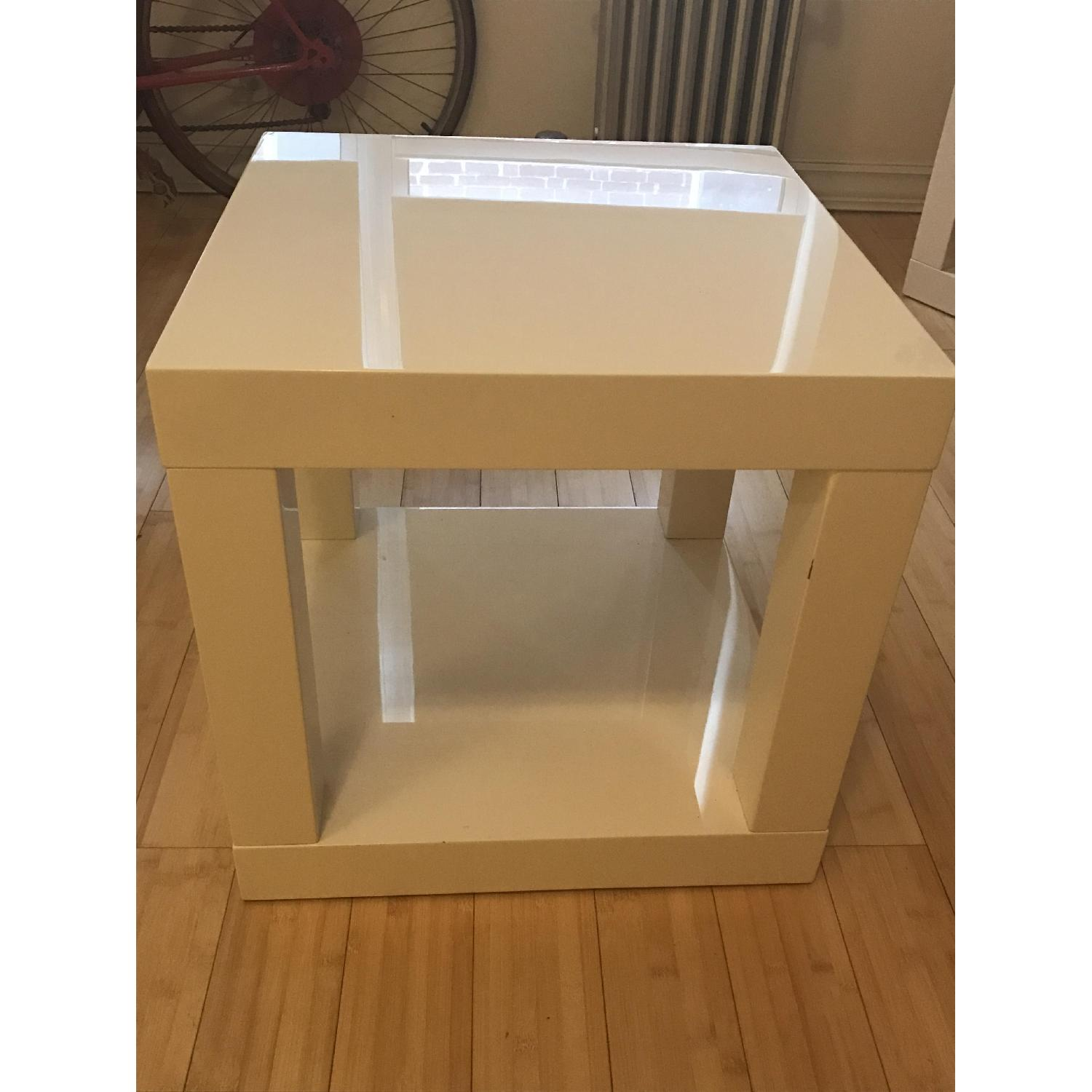 West Elm Lacquer Side Table - image-1