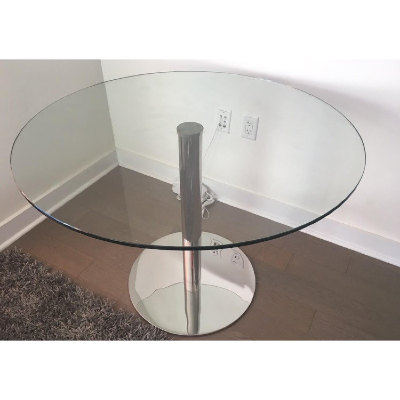 Modani Round Glass Dining Table - image-1