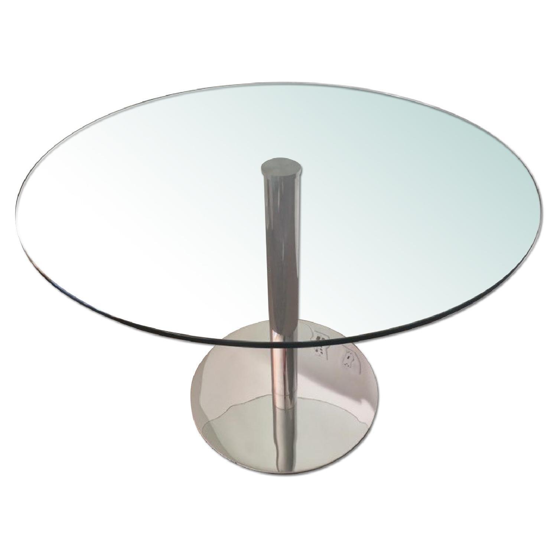 Modani Round Glass Dining Table - image-0