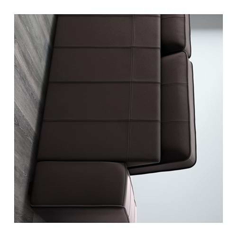 Ikea Kivik Leather Loveseat - image-1