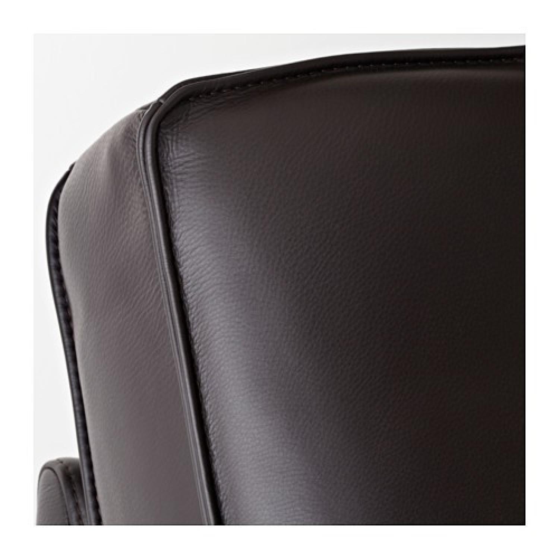 Ikea Kivik Leather Loveseat - image-5