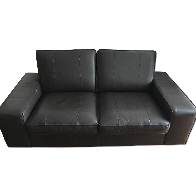 Ikea Kivik Leather Loveseat - image-0
