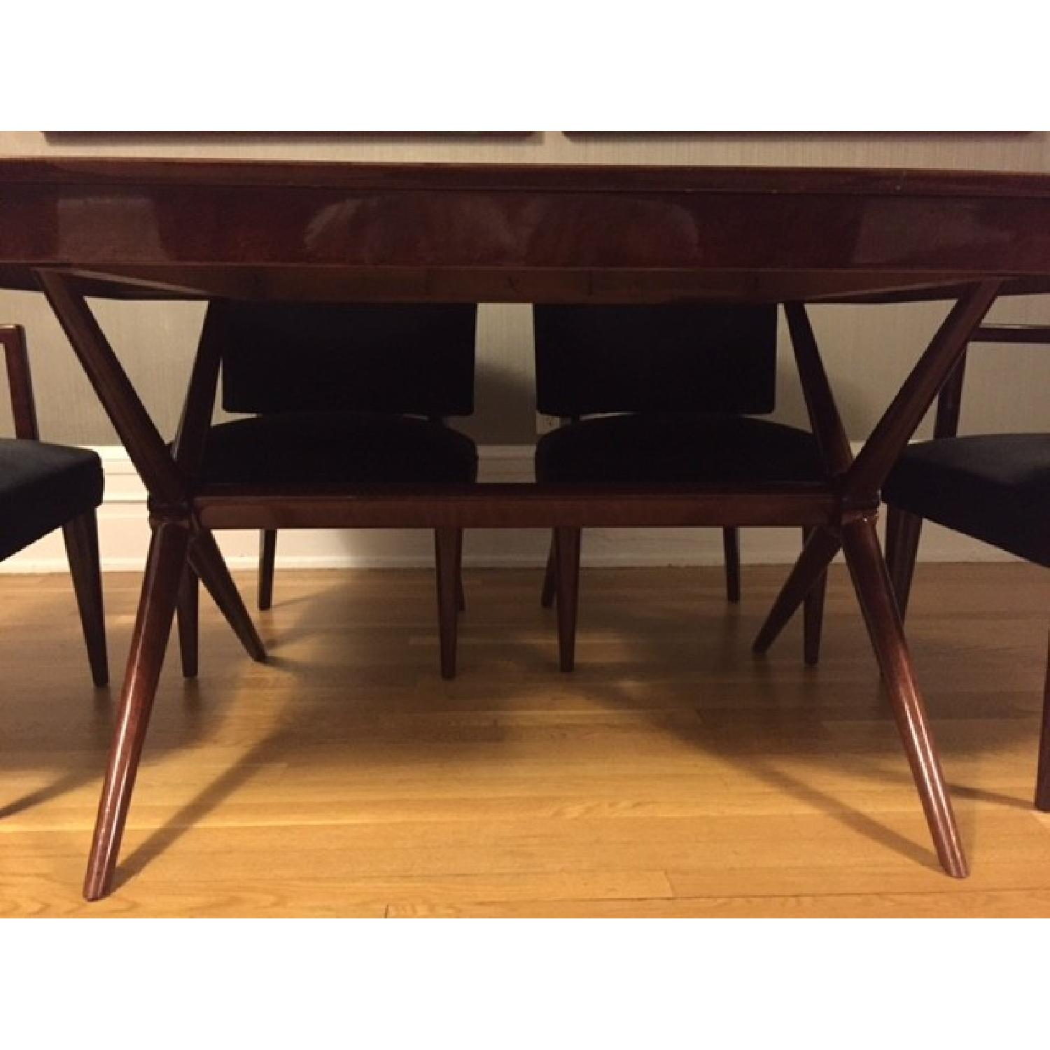Depression Modern Art Deco Dining Room Table w/ 6 Chairs - image-4