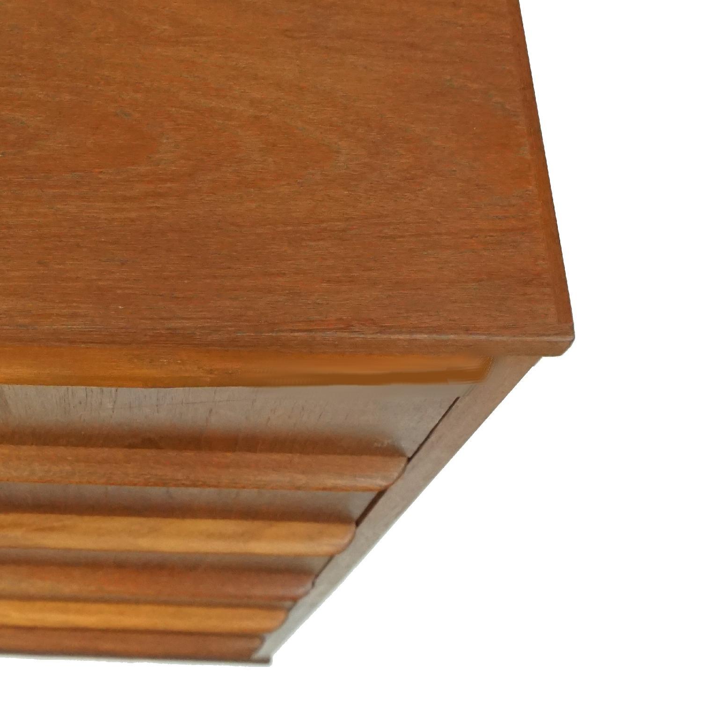 Danish Vintage 6 Drawer Teak Full Profile Highboy Dresser - image-1