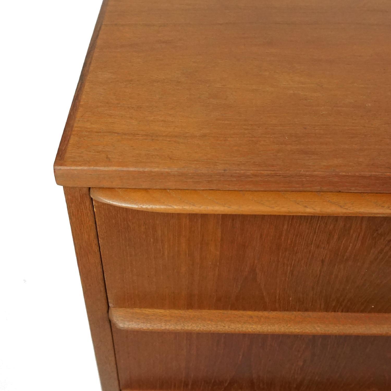 Danish Vintage 6 Drawer Teak Full Profile Highboy Dresser - image-6