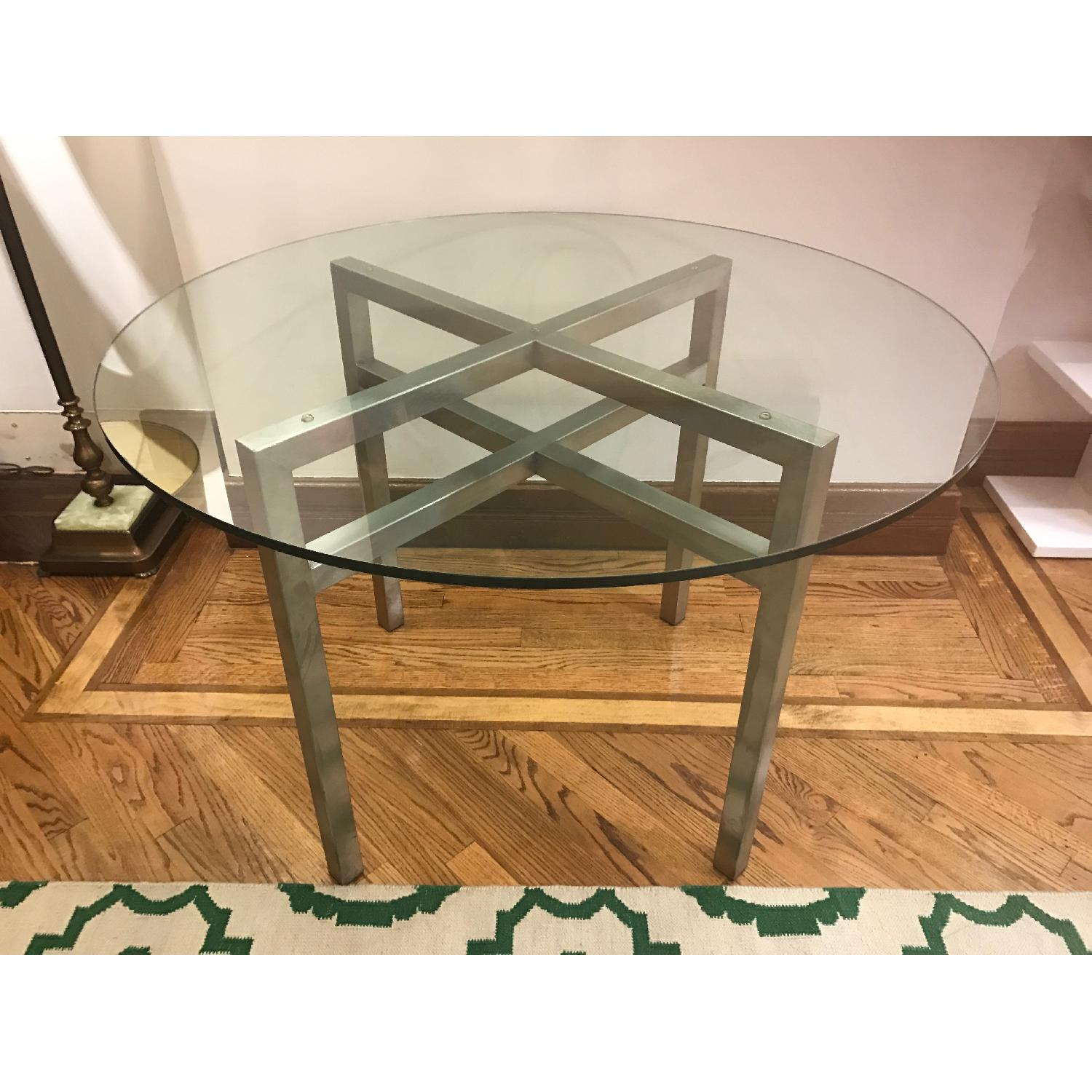 Room & Board Benson Dining Table in Stainless Steel & Glass - image-1