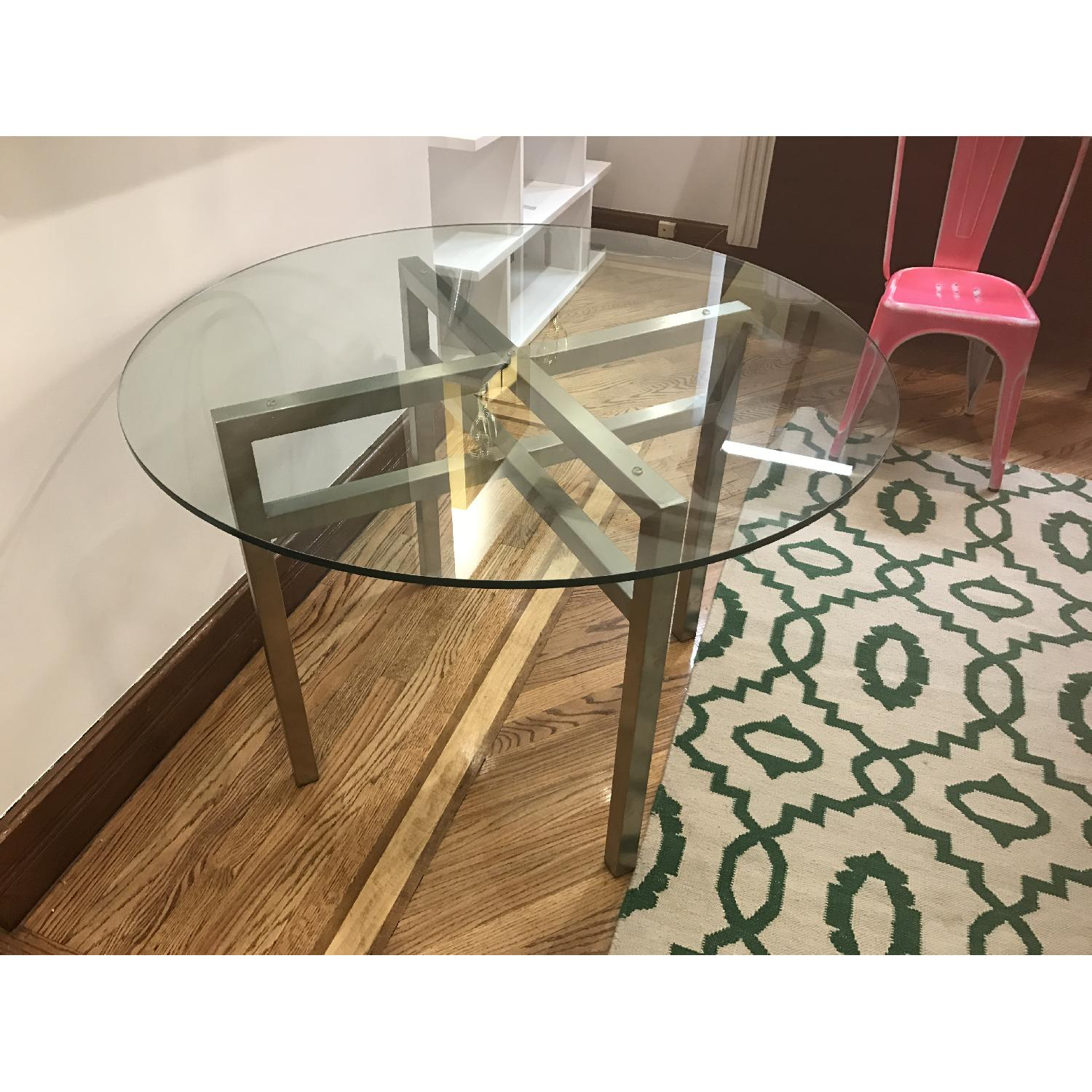 Room & Board Benson Dining Table in Stainless Steel & Glass - image-3