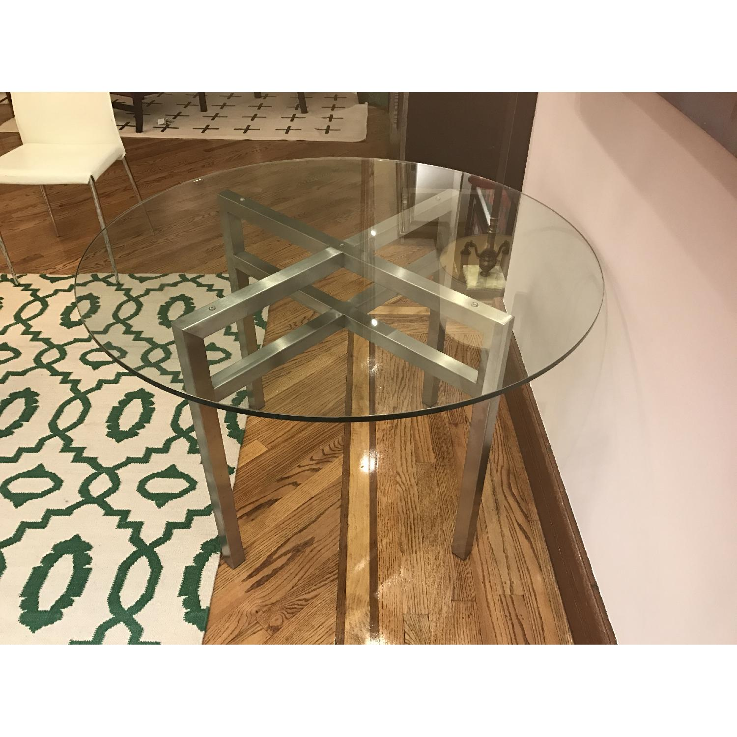 Room & Board Benson Dining Table in Stainless Steel & Glass - image-4