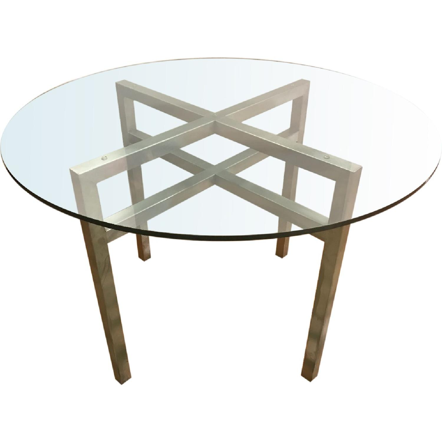 Room & Board Benson Dining Table in Stainless Steel & Glass - image-0