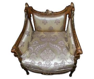 Handmade Italian Loveseat 2 Armchairs