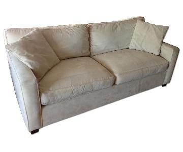 Foremost Furniture Beige Microsuede Sofa