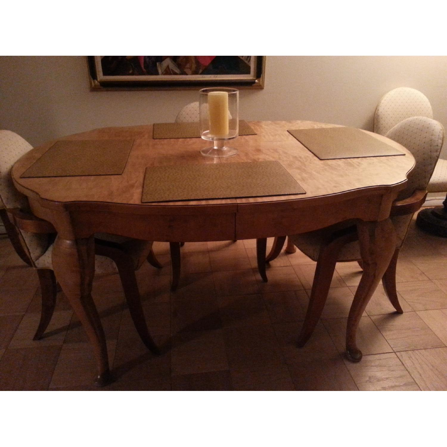 Eileen Fisher Antiques Blonde Birch Country French Dining Table - image-2