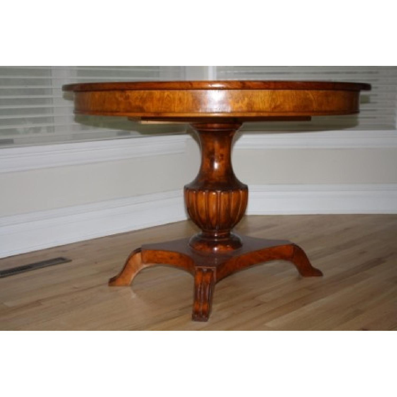 Greene Street Antiques Biedermeier Pedestal Round Dining Table w/ 2 Leaves - image-2