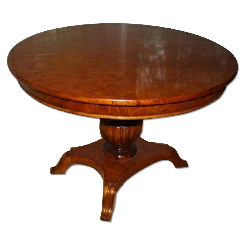 Greene Street Antiques Biedermeier Pedestal Round Dining Table w/ 2 Leaves - image-0