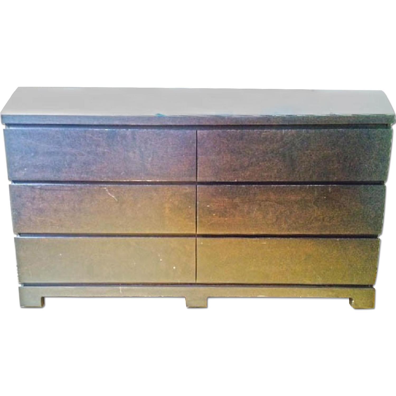 used crate barrel 6 door dresser for sale in nyc aptdeco. Black Bedroom Furniture Sets. Home Design Ideas