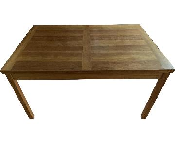 The Door Store Wood Dining Table w/ Built in Leaves