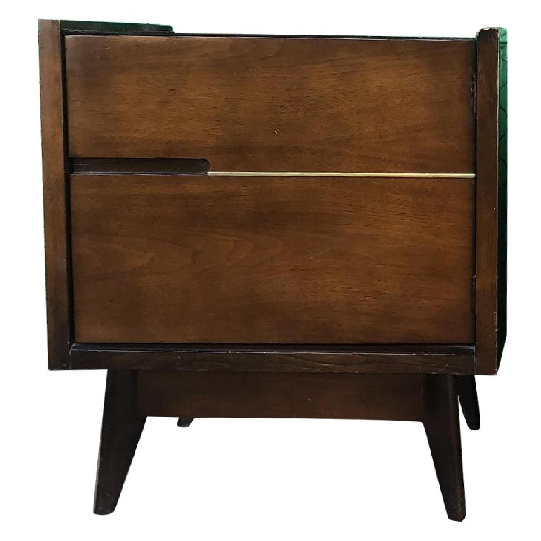 1960s Mid Century Modern Nightstands w/ Storage Cabinet