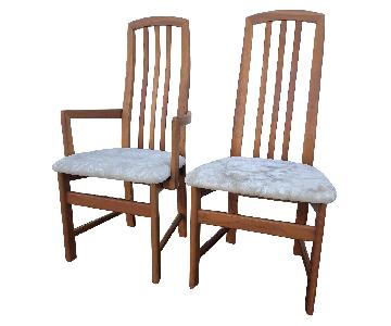 21st Century Modern High Back Dining Chairs