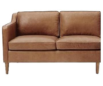 West Elm Leather Loveseat