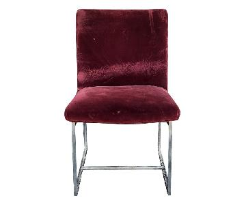 Milo Baughman Mid Century Upholstered Dining Chairs