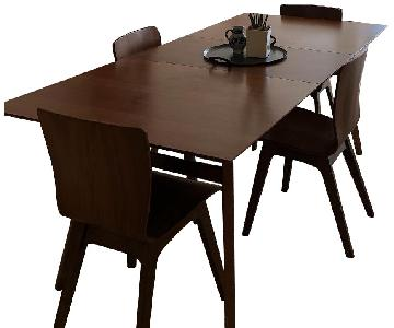 West Elm Expandable Dining Table w/ 4 Chairs