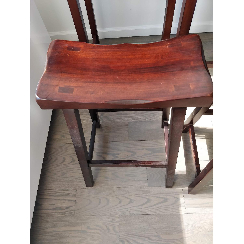 Winsome Wood Lynnwood Drop Leaf High Table w/ 2 Stools-1
