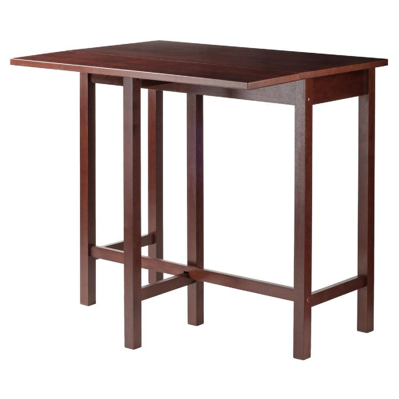 Winsome Wood Lynnwood Drop Leaf High Table w/ 2 Stools-7