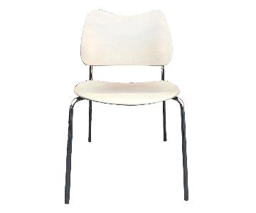 Lammhults Swedish Modern Birch & Chrome Chairs