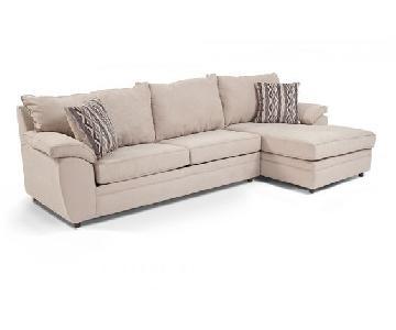 Bob's Suede 2-Piece Sectional Sofa