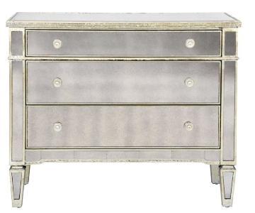 Borghese Mirrored 3 Drawer Dresser