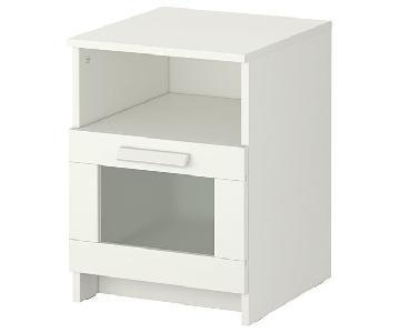 Ikea Brimnes White Nightstands