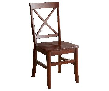 Pier 1 Torrance Mahogany Brown Dining Chair